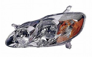 2005-2008 Toyota Corolla Headlight Assembly (CE/LE) - Left (Driver)