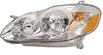 2003 - 2004 Toyota Corolla Headlight Assembly (S Model) - Left (Driver)