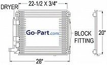 2004 - 2009 Cadillac SRX A/C (AC) Condenser (Without Tow Package)