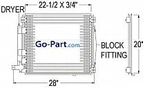 2004-2009 Cadillac SRX A/C (AC) Condenser (Without Tow Package)