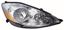 2006 - 2010 Toyota Sienna Front Headlight Assembly Replacement Housing / Lens / Cover - Right (Passenger)