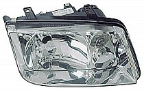 1999 - 2002 Volkswagen Jetta Headlight Assembly (without Fog Lamps + with Chrome Bezel Lens + without Turbo) - Right (Passenger)