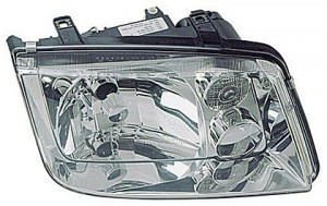1999-2002 Volkswagen Jetta Headlight Assembly (without Fog Lamps / with Chrome Bezel Lens / without Turbo) - Right (Passenger)