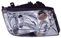 2002 - 2005 Volkswagen Jetta Headlight Assembly (1.9/2.0/2.8L + without Fog Lamps + without Turbo) - Right (Passenger)