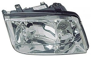1999-2002 Volkswagen Jetta Headlight Assembly (with Fog Lamps / with Bright Bezel Lens) - Right (Passenger)
