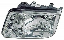 1999 - 2002 Volkswagen Jetta Headlight Assembly (without Fog Lamps + with Chrome Bezel Lens + without Turbo) - Left (Driver)