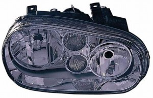 1999-2002 Volkswagen Cabrio Headlight Assembly (Type 4 / with Fog Lamps / with Bright Bezel Lens) - Right (Passenger)