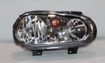 1999 - 2002 Volkswagen Cabrio Headlight Assembly (Type 4 + without Fog Lamps + with Bright Bezel Lens) - Right (Passenger)