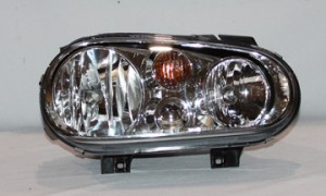 1999-2002 Volkswagen Cabrio Headlight Assembly (Type 4 / without Fog Lamps / with Bright Bezel Lens) - Right (Passenger)