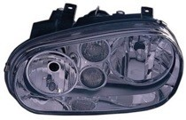 1999 - 2002 Volkswagen Cabrio Headlight Assembly (Type 4 + with Fog Lamps + with Bright Bezel Lens) - Left (Driver)