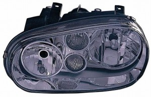 1999-2002 Volkswagen Cabrio Headlight Assembly (Type 4 / with Fog Lamps / with Bright Bezel Lens) - Left (Driver)