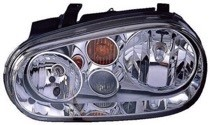 2002 Volkswagen Golf + GTI + GTA Front Headlight Assembly Replacement Housing / Lens / Cover - Left (Driver)