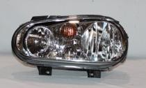 1999 - 2002 Volkswagen Golf + GTI + GTA Headlight Assembly (Type 4 + without Fog Lamps + with Bright Bezel Lens)- Left (Driver)