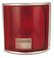 1988-1991 GMC Pickup Tail Light Rear Brake Lamp (R/V / Fleetside /w ith Bright Bezel) - Right (Passenger)