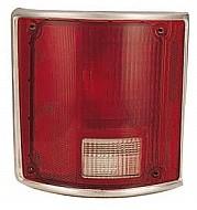 1988-1991 GMC Pickup Tail Light Rear Lamp (R/V / Fleetside / with Bright Bezel) - Left (Driver)