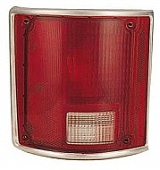 1988 - 1991 GMC Pickup Rear Tail Light Assembly Replacement (R/V + Fleetside + with Bright Bezel) - Left (Driver)