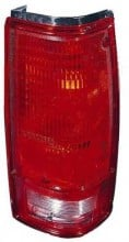 1982 - 1993 Chevrolet Chevy S10 Pickup Rear Tail Light Assembly Replacement (with O Bezel Lens) - Right (Passenger)