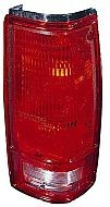 1982-1993 Chevrolet Chevy S10 Pickup Tail Light Rear Lamp (with O Bezel Lens) - Right (Passenger)