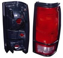1982 - 1993 Chevrolet Chevy S10 Pickup Tail Light Rear Lamp (with Black Bezel Lens) - Right (Passenger)