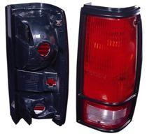 1982 - 1993 GMC Sonoma Tail Light Rear Lamp (with Black Bezel Lens) - Right (Passenger)