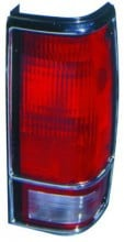 1982 - 1993 Chevrolet Chevy S10 Pickup Rear Tail Light Assembly Replacement (with Bright Bezel Lens) - Right (Passenger)