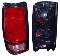 1982 - 1993 Chevrolet Chevy S10 Pickup Tail Light Rear Lamp (with Black Bezel Lens) - Left (Driver)