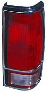 1982-1993 Chevrolet Chevy S10 Pickup Tail Light Rear Lamp (with Bright Bezel Lens) - Left (Driver)