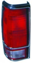 1982 - 1993 GMC Sonoma Tail Light Rear Lamp (with Bright Bezel Lens) - Left (Driver)