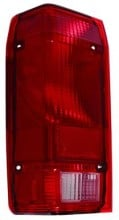 1991 - 1992 Ford Ranger Rear Tail Light Assembly Replacement / Lens / Cover - Left (Driver)