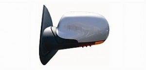 2002-2004 Oldsmobile Bravada Side View Mirror (Heated / Power Remote / Fold-Away / without Light Sensitive Dimmer / Black) - Left (Driver)