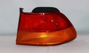 1996-1998 Honda Civic Tail Light Rear Brake Lamp (Coupe / Body Mounted) - Right (Passenger)