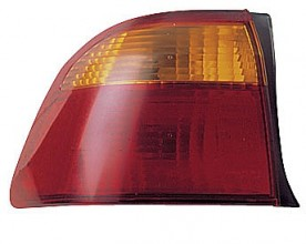 1999-2000 Honda Civic Tail Light Rear Lamp (Sedan / Body Mounted) - Left (Driver)