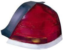 1999 - 2000 Ford Crown Victoria Rear Tail Light Assembly Replacement (with 4 Bulb Lamp) - Right (Passenger)