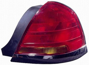 2001-2005 Ford Crown Victoria Tail Light Rear Lamp (with Sport Package / Black) - Right (Passenger)