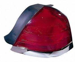 1999-2000 Ford Crown Victoria Tail Light Rear Lamp (with 2 Bulb Lamp / with Bright Molding) - Right (Passenger)