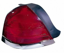 1999-2000 Ford Crown Victoria Tail Light Rear Lamp ( with 2 Bulb Lamp / with Bright Molding) - Left (Driver)