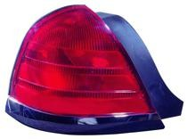 1999 - 2000 Ford Crown Victoria Rear Tail Light Assembly Replacement (with 2 Bulb Lamp + with Black Molding) - Left (Driver)