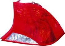2003 - 2004 Ford Focus Tail Light Rear Lamp (Sedan + without Bulb or Socket + with Black Housing) - Right (Passenger)