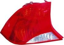 2003 - 2004 Ford Focus Rear Tail Light Assembly Replacement (Sedan + without Bulb or Socket + with Black Housing) - Left (Driver)