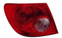 2005-2008 Toyota Corolla Tail Light Rear Lamp - Left (Driver)