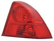 2003 - 2005 Honda Civic Rear Tail Light Assembly Replacement / Lens / Cover - Right (Passenger)