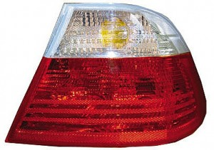 2001-2003 BMW 325i Tail Light Rear Brake Lamp (Coupe / E46 / Outer / with White Lens / to 3/03) - Right (Passenger)
