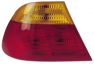 2001-2003 BMW 330i Tail Light Rear Lamp (Coupe / E46 / Outer / with Amber Lens / to 3/03) - Left (Driver)