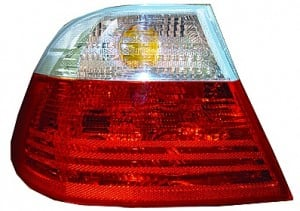 2000-2000 BMW 328i Tail Light Rear Brake Lamp (Coupe / Outer / with White Lens) - Left (Driver)