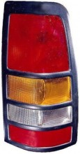 1999 - 2003 Chevrolet Chevy Silverado Rear Tail Light Assembly Replacement (3500 + with Black Bezel Lens) - Right (Passenger)