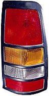 1999-2003 Chevrolet Chevy Silverado  Tail Light Rear Brake Lamp (3500 / with Black Bezel Lens) - Right (Passenger)