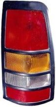 1999 - 2005 GMC Sierra Tail Light Rear Lamp (3500 / with Black Bezel Lens) - Right (Passenger)