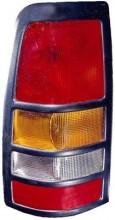 1999 - 2003 Chevrolet Chevy Silverado Tail Light Rear Lamp (3500 / with Black Bezel Lens) - Left (Driver)