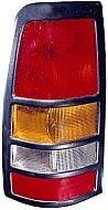 1999-2003 Chevrolet Chevy Silverado  Tail Light Rear Brake Lamp (3500 / with Black Bezel Lens) - Left (Driver)