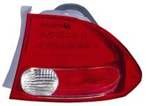 2006 - 2008 Honda Civic Rear Tail Light Assembly Replacement (Sedan + On Body) - Right (Passenger)